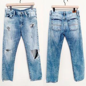 Denim & Supply Destroyed Knee Boyfriend Jeans